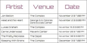 Journalism concert dates